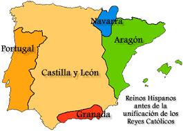 Mapa España Siglo Xv.Resultado De Imagen Para Mapa De Espana En El Siglo Xv