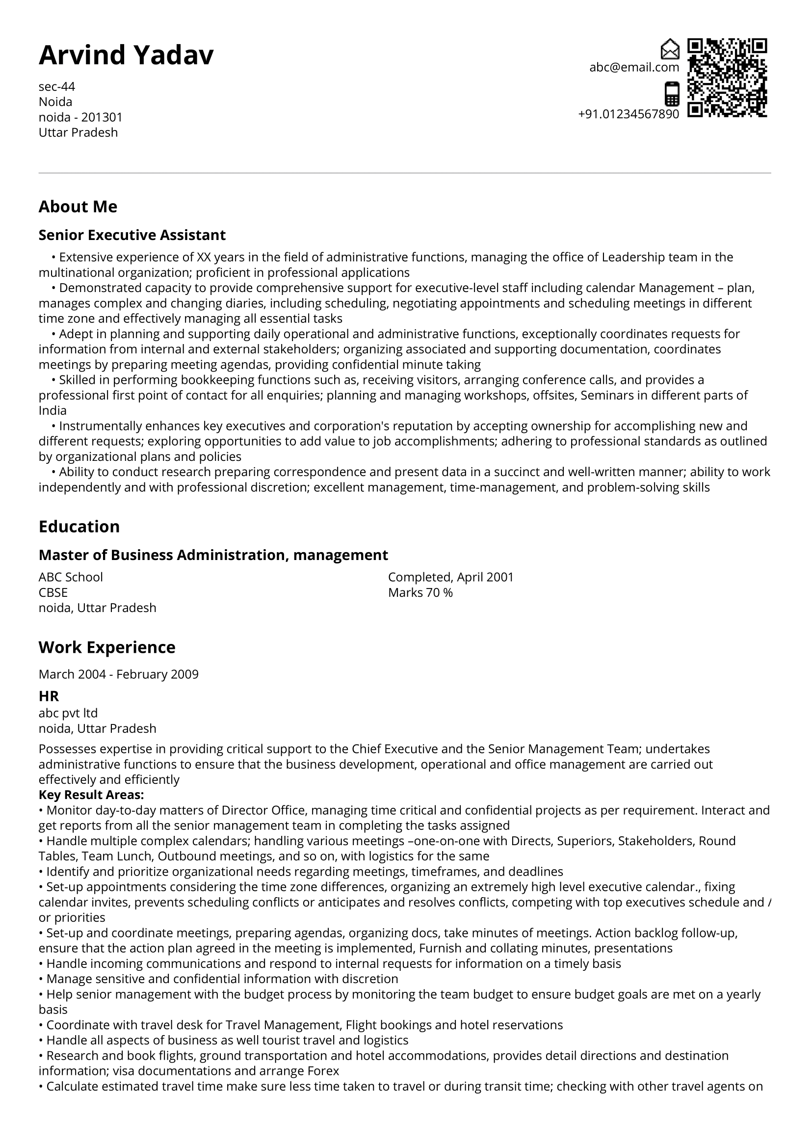 Professional Business Resume Templates in 2020 Business