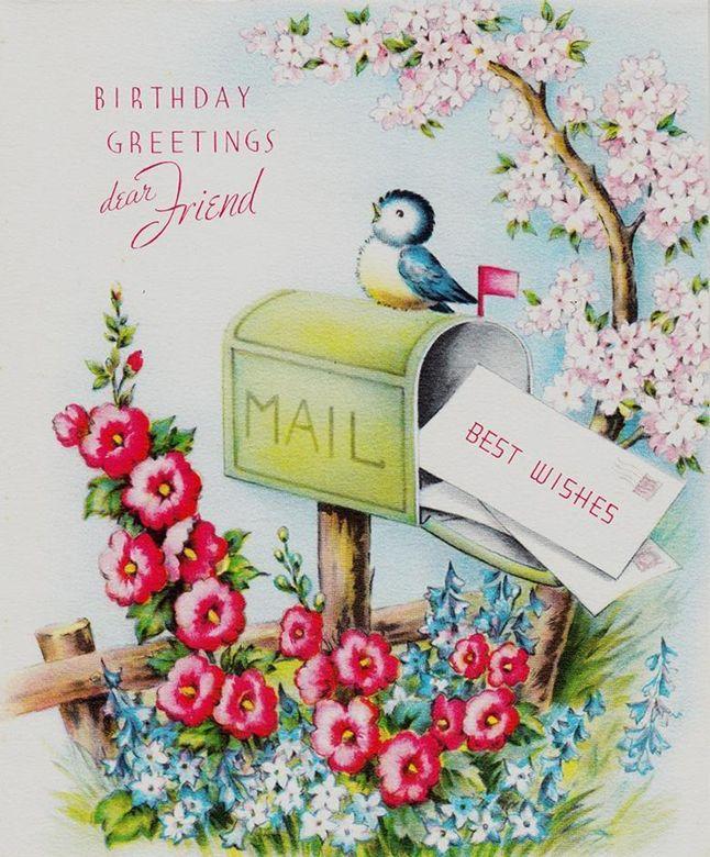Birthday Greetings Dear Friend | Vintage Birthday Wishes ...