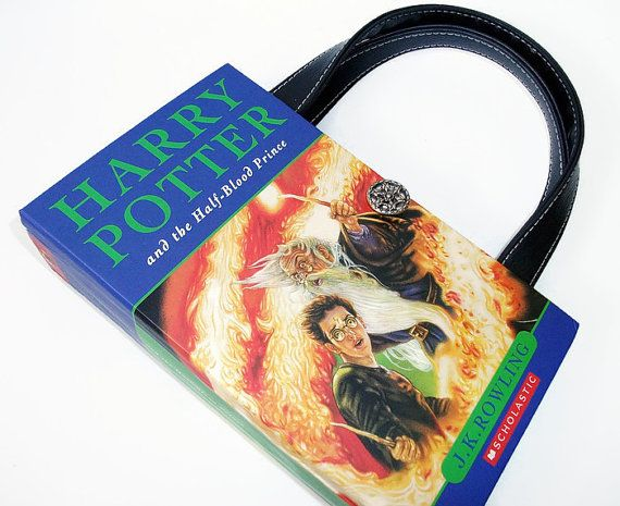 Harry Potter Book Purse Half Blood Prince Recycled by retrograndma