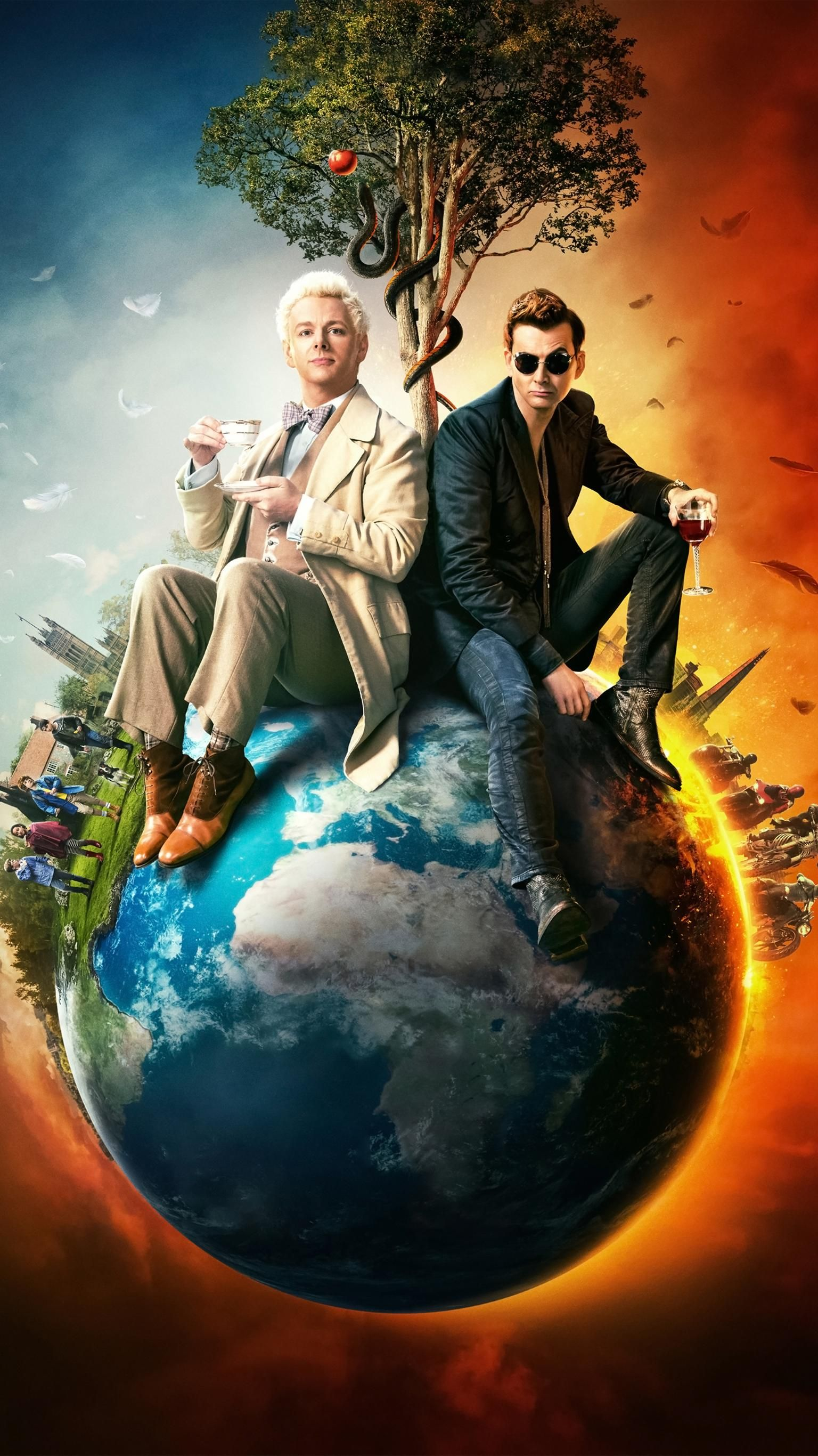 Good Omens Phone Wallpaper in 2020 Movie wallpapers, Go