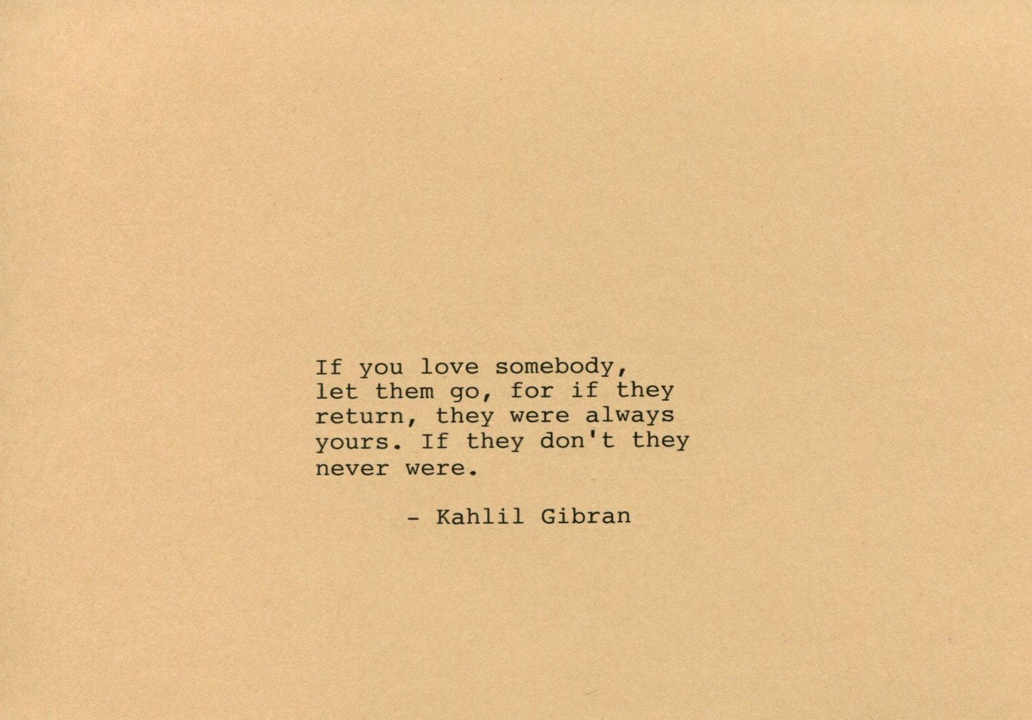 Kahlil Gibran Quote Made On Typewriter Art Quote Wall Art If You