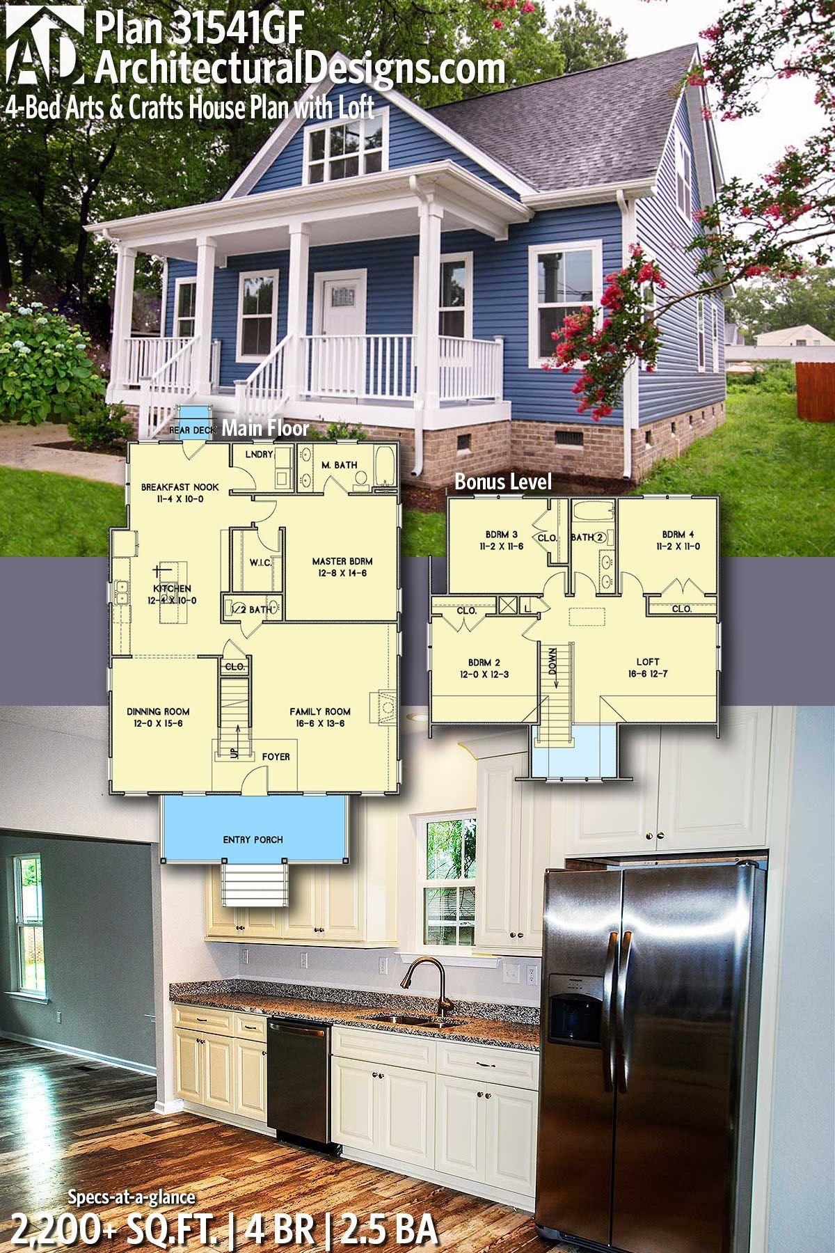 Plywood loft bed plans  Plan GF Bed Arts u Crafts House Plan with Loft  Blue print
