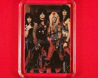Motley Crue Fridge Magnet Nikki Sixx Vince Neil Mick Mars Heavy Metal Rock N Roll