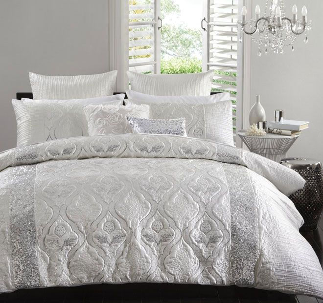 Logan And Mason Ultima Lopez Quilt Cover Set Range Silver Quilt Cover Sets Quilt Cover Home