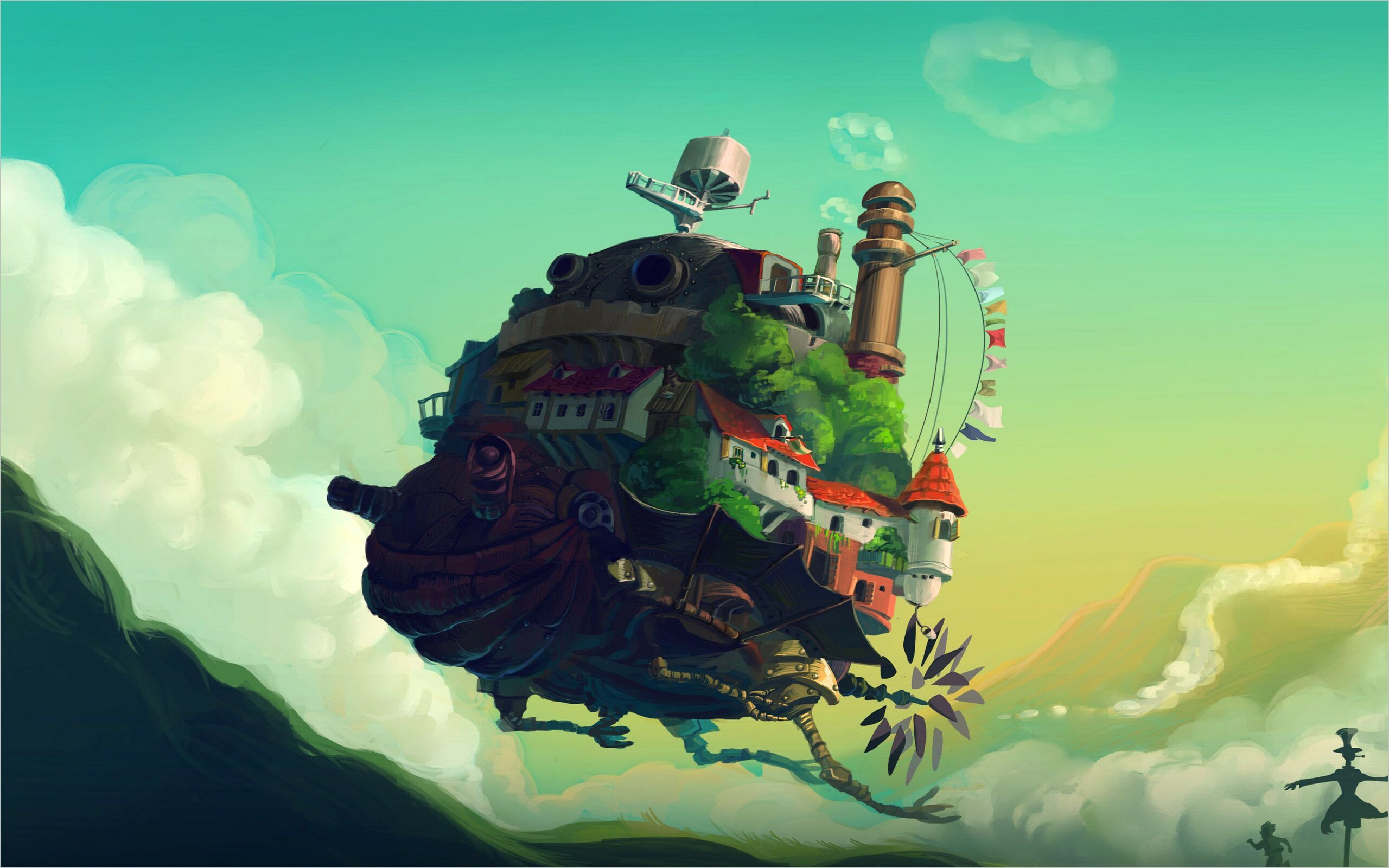 Studio Ghibli Wallpaper 4k In 2020 Howls Moving Castle Wallpaper Chill Wallpaper Howls Moving Castle
