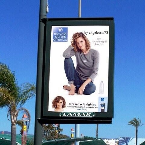 "Stana for ""recycle across america"""