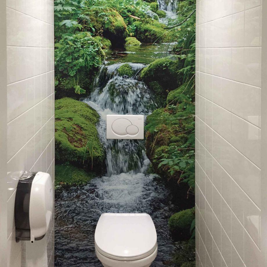 Tjilly Wasserfall-Optik Aluminium Wandpaneel 15 x 15cm