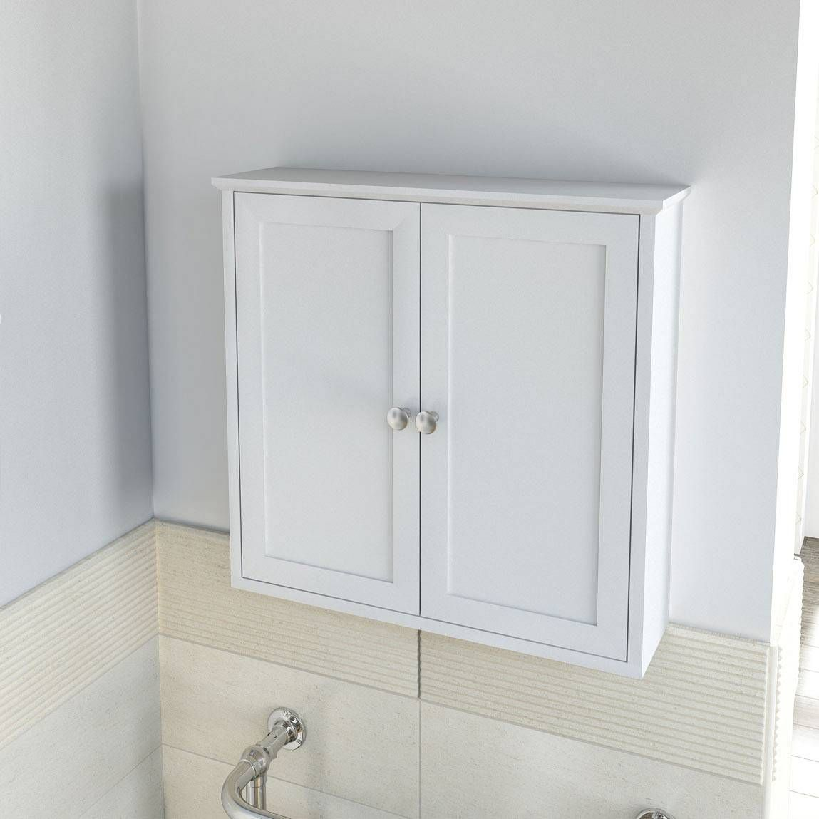 Camberley white wall mounted cabinet 60 also in sage - Wall mounted bathroom storage units ...