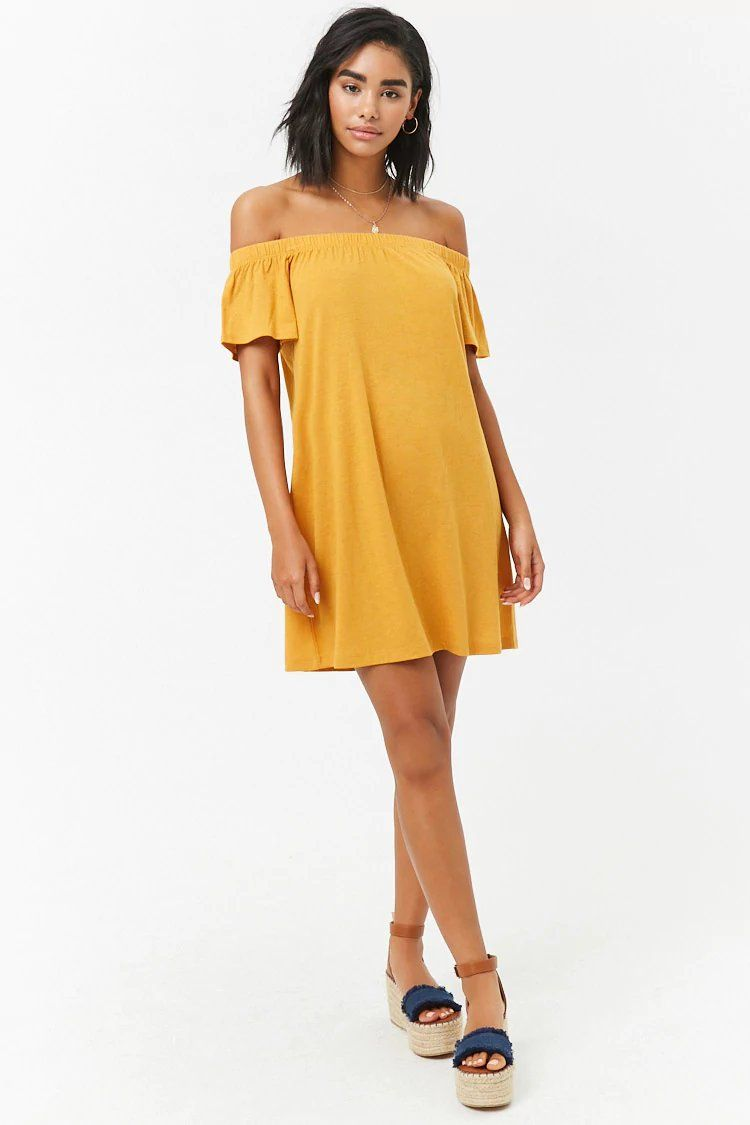 31b9a7635b3a Off-the-Shoulder T-Shirt Dress