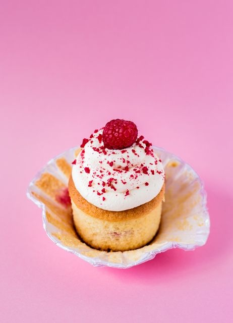 Himbeer Zitronen Cupcakes mit Mascarpone Frosting