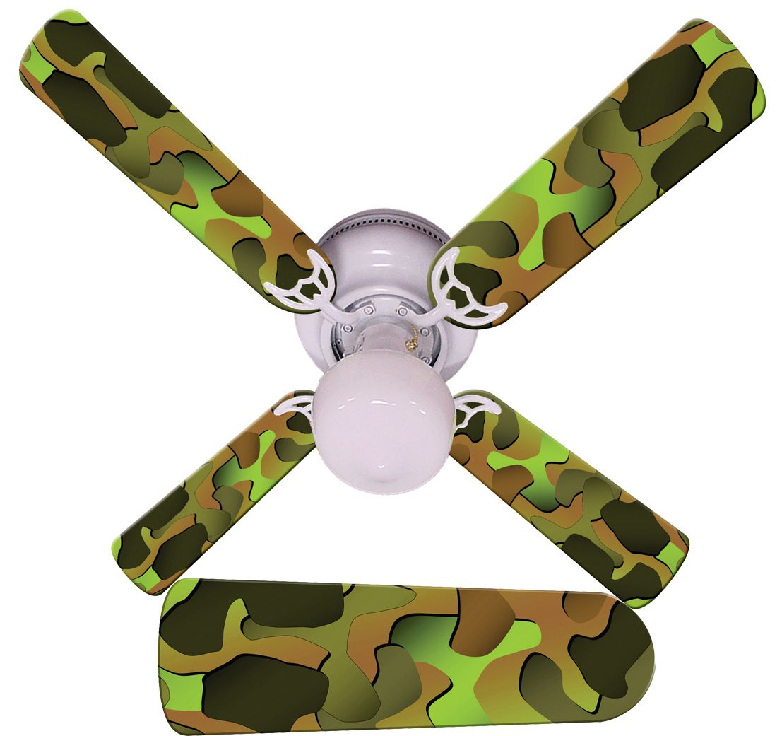 Kids ceiling fans with lights kids ceiling fan camo for Kids room ceiling fan