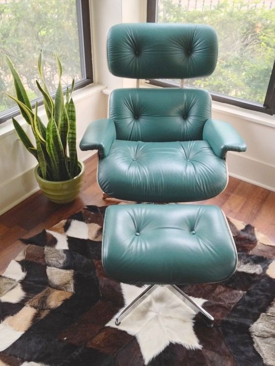 Midcentury Plycraft Eames Style Chair Ottoman Chair And Ottoman Shabby Chic Table And Chairs Vintage Lounge Chair #teal #chairs #for #living #room
