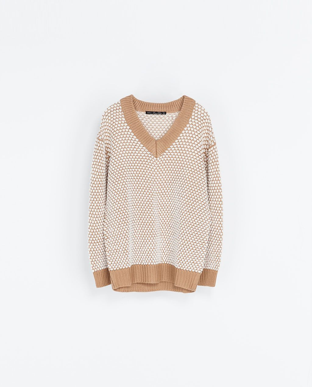 TWO,TONE OVERSIZE SWEATER from Zara Jersey Oversize, Zara Women, Cute  Shirts,