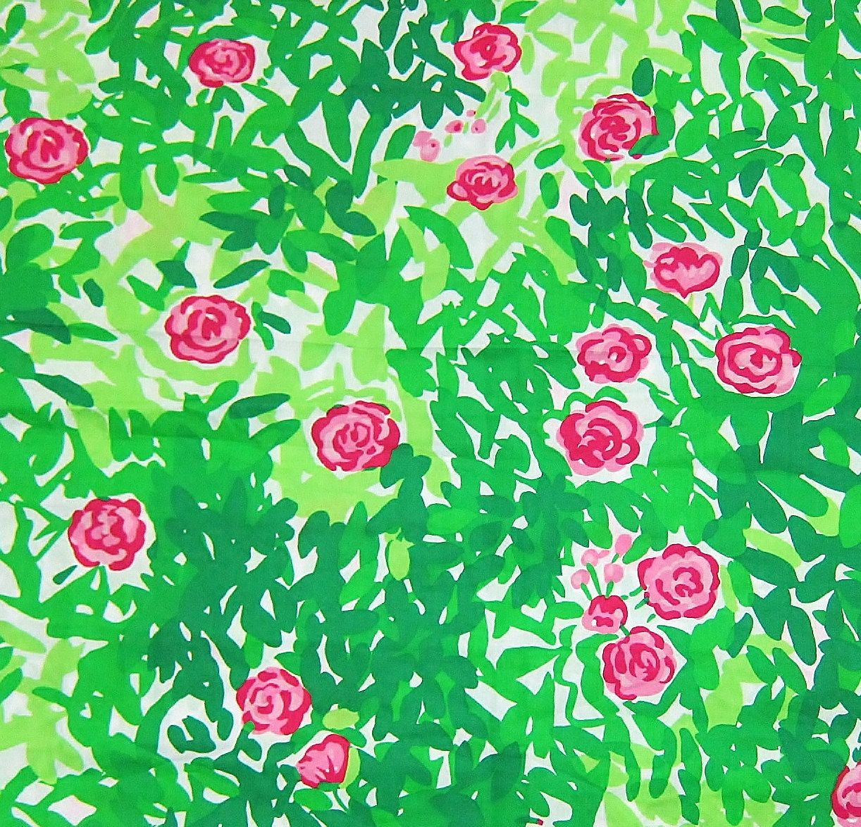Lilly Pulitzer Fabric Authentic New Lilly Pulitzer Fabric Pink Green Multi Dashing 1