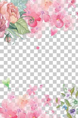 Pink Flowers Paper Pink Flowers Rose Hand Painted Floral Pink Flowers Decorative Background P Flower Illustration Flower Drawing Watercolor Flowers Paintings
