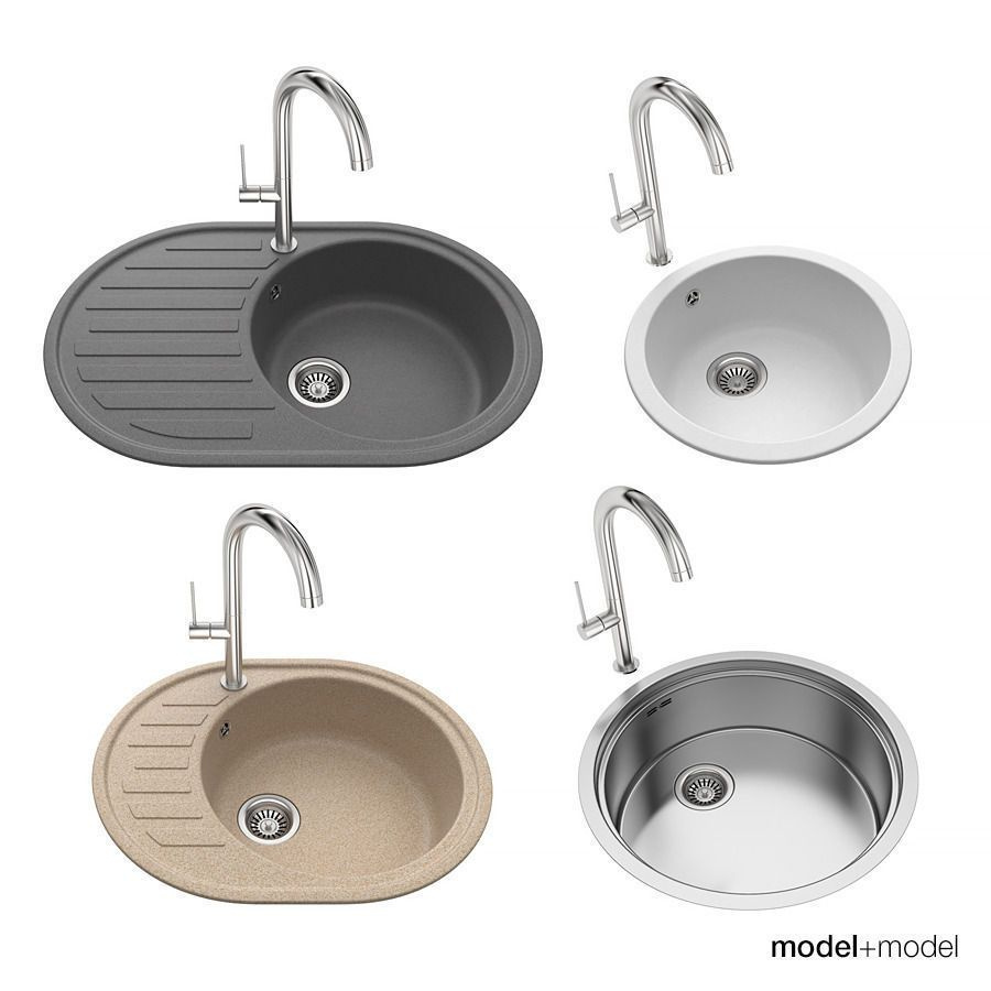 Round Sinks 3d Model Round Kitchen Sink Round Sink Open Plan Kitchen Living Room