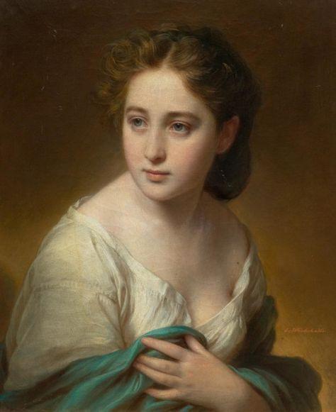Franz Xaver Winterhalter; 1805—1873(Portrait of a young woman)