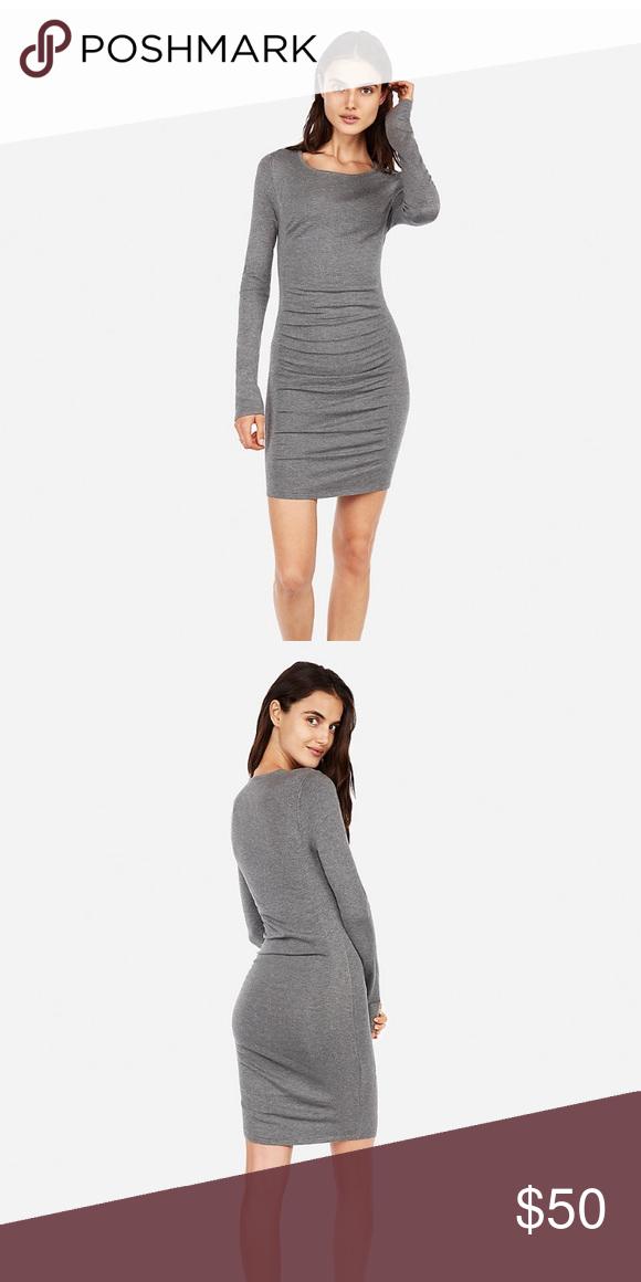 4a9eb62a794 Express long sleeve sweater dress Express long sleeve sweater dress. NWT!  Features ruched front panel