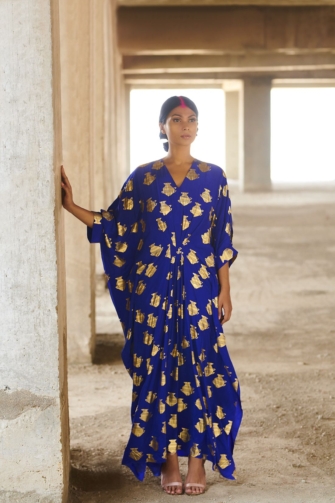 d71ac592fe9df Printed electric blue kaftan by house of Masaba for women of all shapes and  sizes