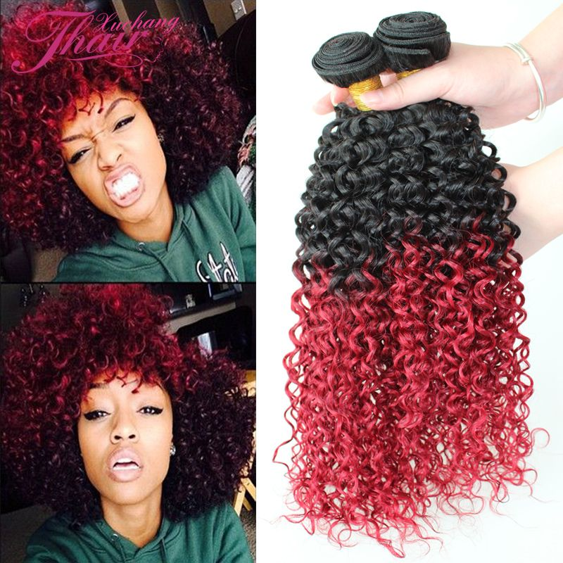 Top 8a brazilian curly virgin hair no tangle ombre 1b burgundy top brazilian curly virgin hair no tangle ombre burgundy kinky curly red hair extensions human hair weave three bundles pmusecretfo Image collections