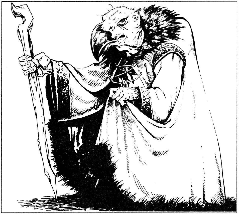 Nagpa, a Dark Crystal Skeksis for D&D (From the 1986 D&D Creature ...