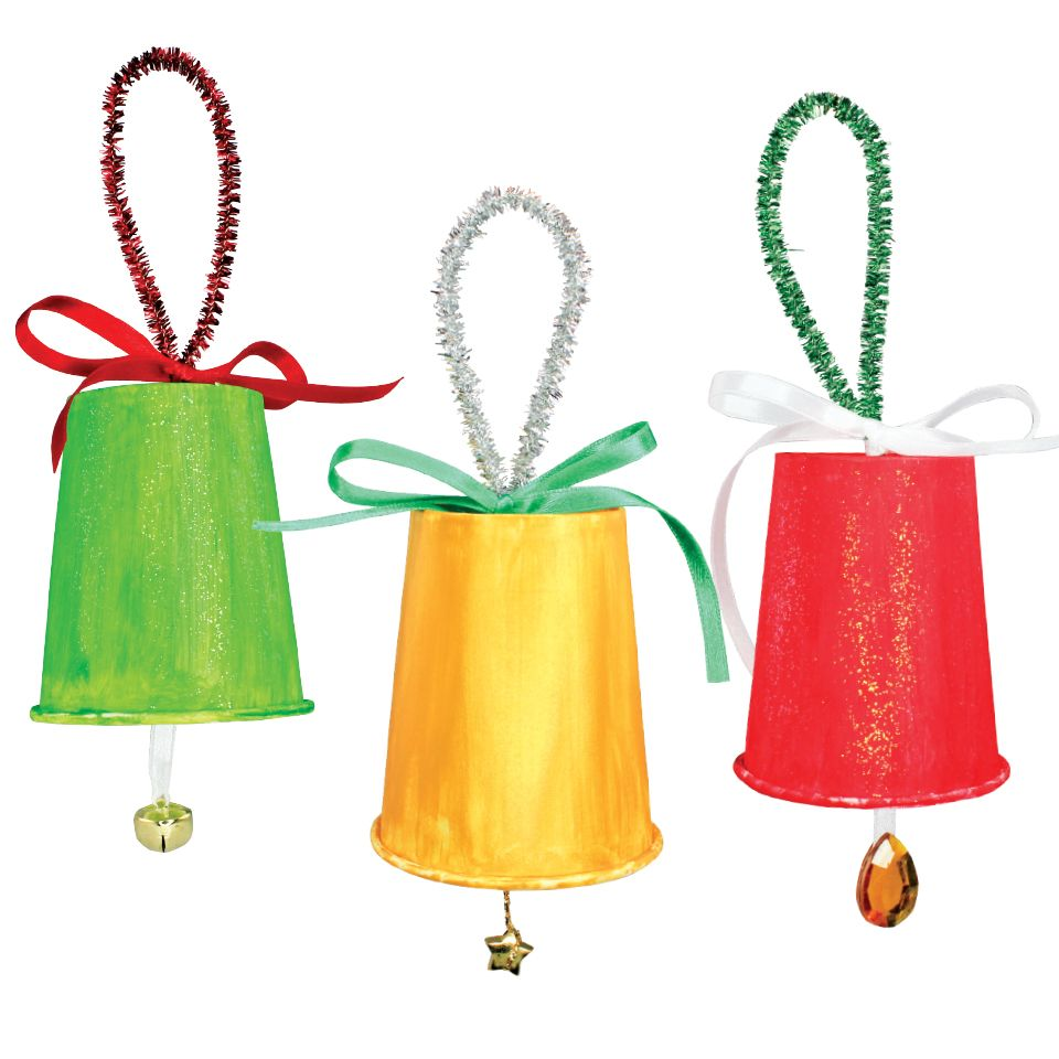 Christmas Paper Cup Bells - CleverPatch | Christmas paper, Holiday program ideas, Paper cup