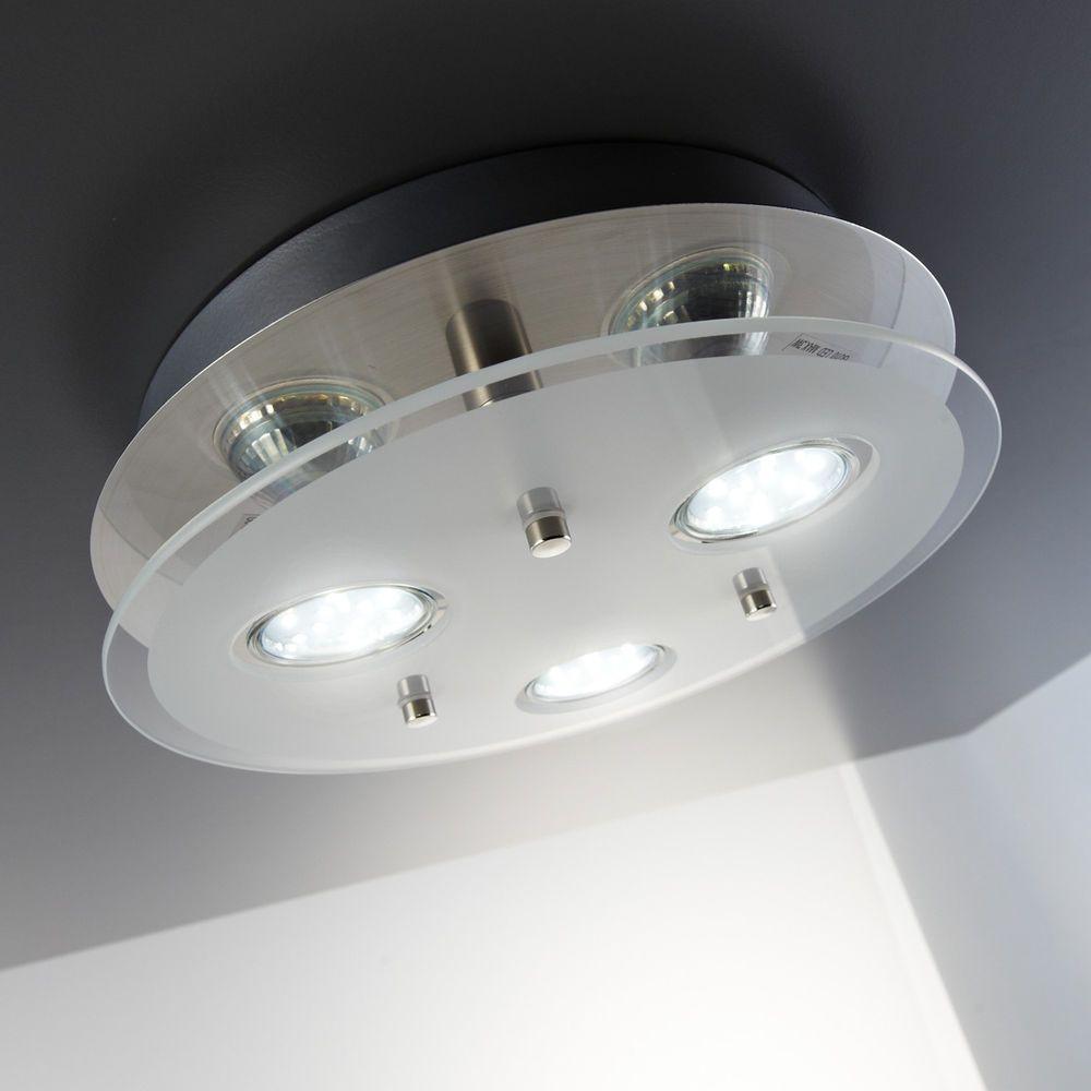 Led Deckenlampe Gu10 Deckenleuchte Rund 3 Flammig Spot Strahler Lampe Wohnzimmer Ebay Led Deckenlampen Lampen Wohnzimmer Led