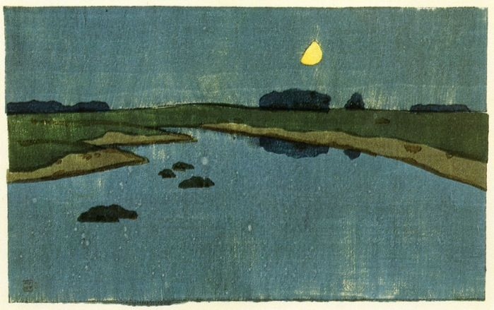 Arthur Wesley Dow, Marsh Creek, woodcut