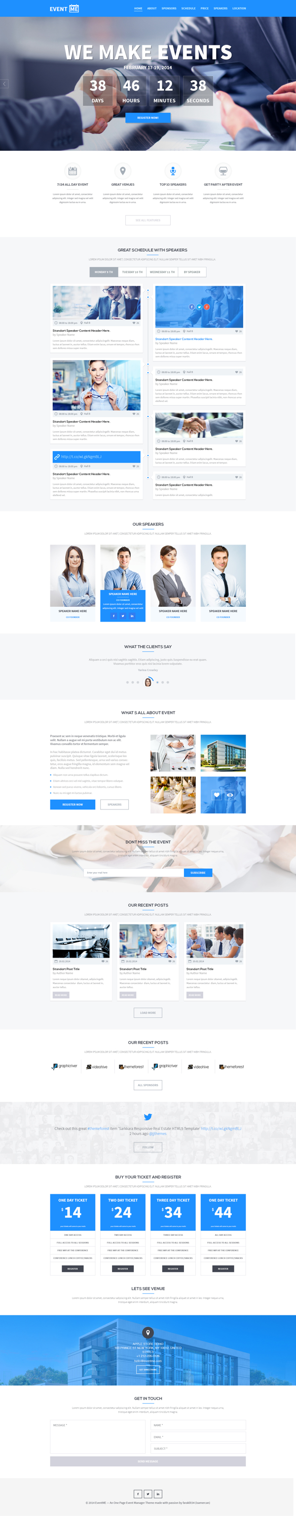 One Page Website Template One Page Website Personal Website Templates Website Template