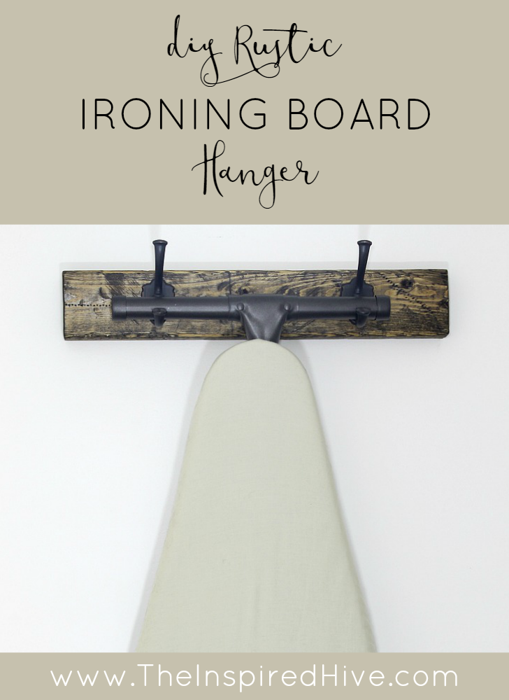 DIY Rustic Wooden Ironing Board Hanger