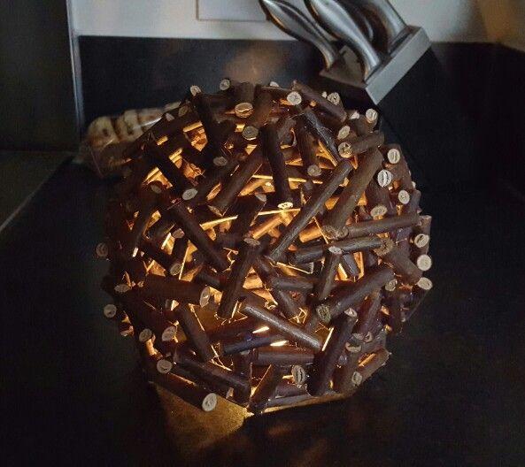 Twig ball with candle