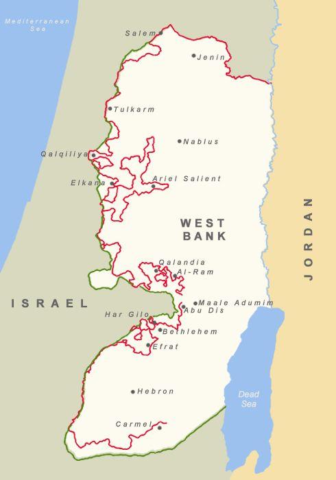 Map israeli wallfence israeli palestinian conflict procon map israeli wallfence israeli palestinian conflict procon gumiabroncs Image collections