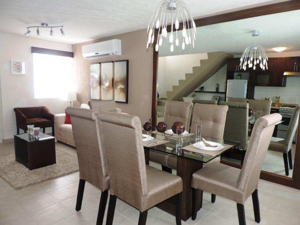 Exteriores cocinas pinterest comedores casas y sala for Comedores para apartamentos pequenos