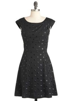 Director's Cutout Dress in Black Dots - this looks like the perfect LBD. #modcloth