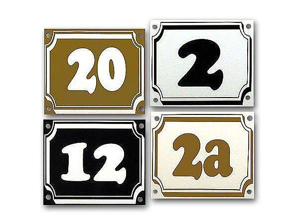 Hausnummer aus Dibond mit max. 2 Zeichen