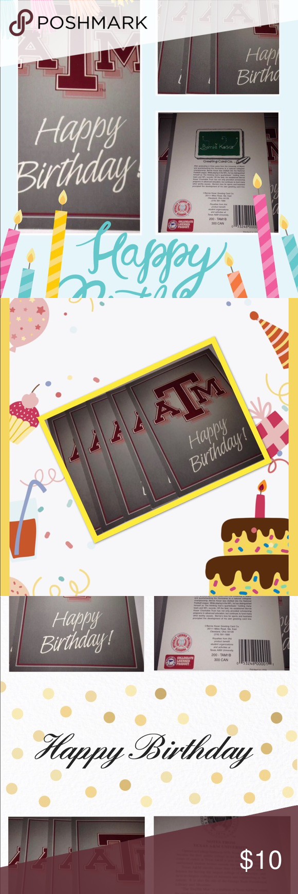 5 Texas A M Aggies Happy B Day Card Envelopes Happy Birthday Cards Birthday Cards Greeting Card Companies