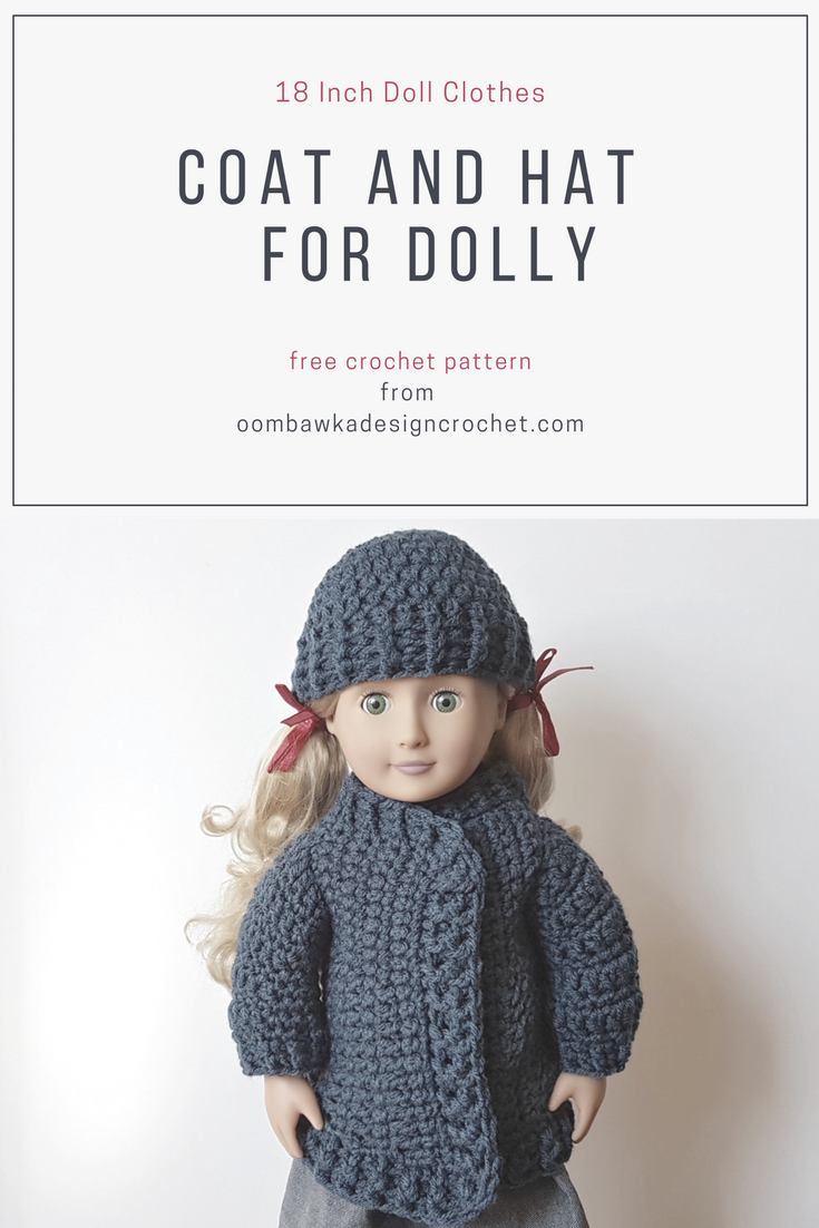 64dc67608 Coat and Hat for Dolly. 18 Inch Doll Clothes Patterns