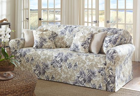 Sure Fit Slipcovers Tropical Floral One Piece Slipcovers Sofa Slipcovers For Chairs Slipcovers Furniture Covers