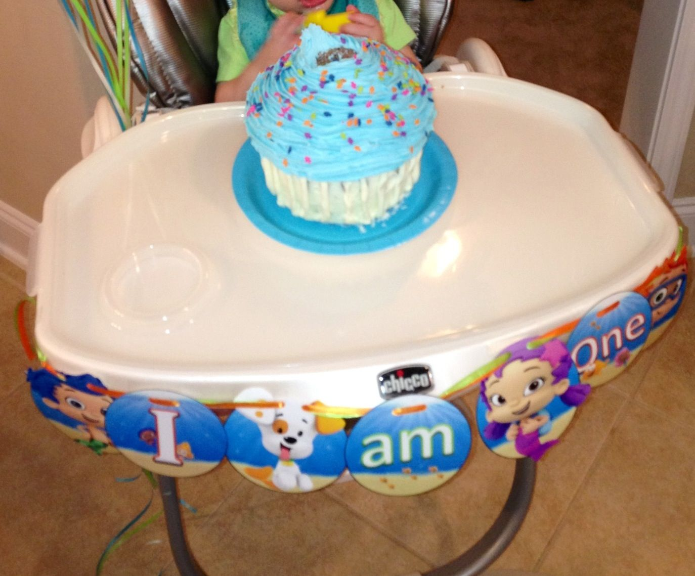 High Chair Decorations 1st Birthday Boy Hanging Parts Bubble Guppies Party