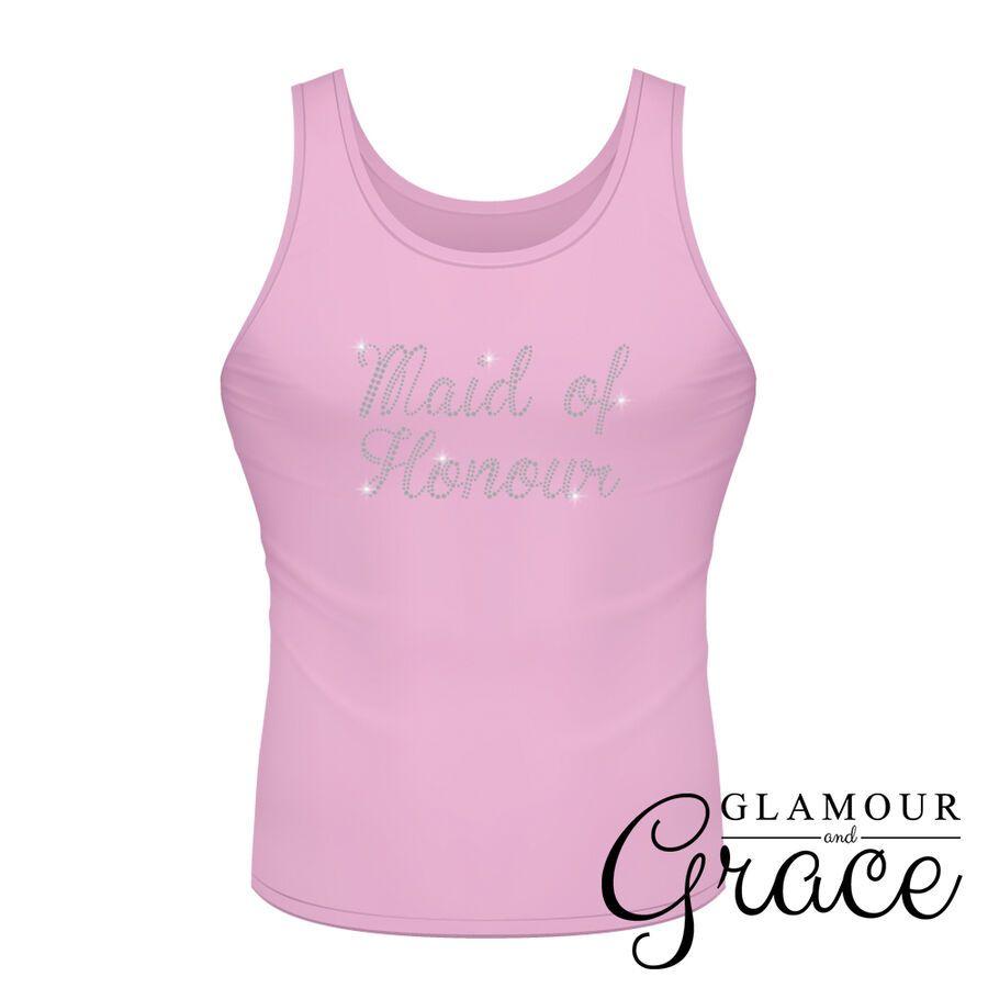 3754543a Pink Singlet Bride Bridesmaid Bridal Party Hens Night Personalised Tank Top  Tee#Bridesmaid#Bridal#Party