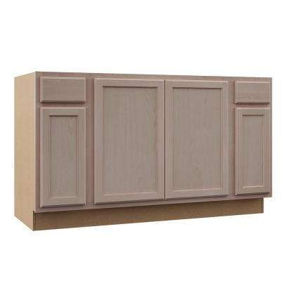 Assembled 60x34 5x24 In Sink Base Kitchen Cabinet In Unfinished