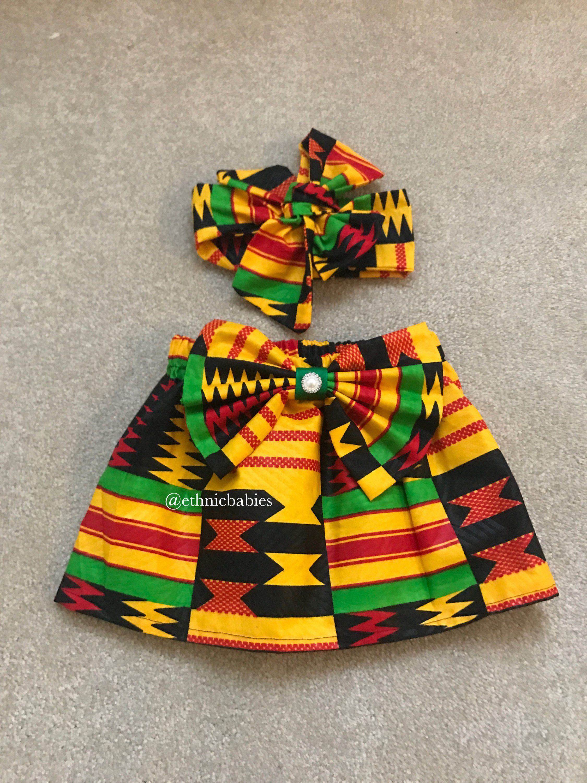 9c860b140f54 African skirt African babygirl clothes baby set Head wrap Newborn ...