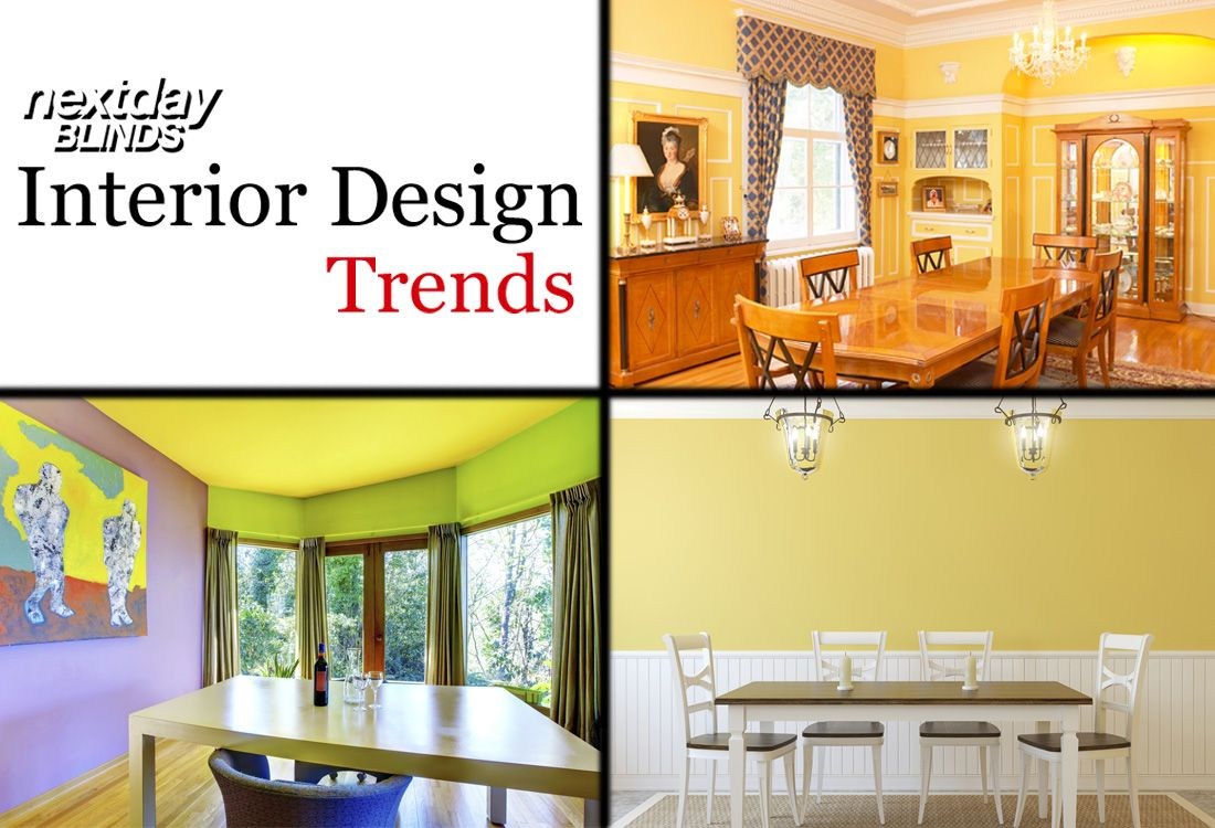 """Let the Color Yellow Brighten Your Home!  """"Introduce the colour yellow in a Dining Room which is regularly used for entertaining, this bright colour will stimulate conversation,"""" says interior designer Kelly Davies.   #InteriorDesign"""