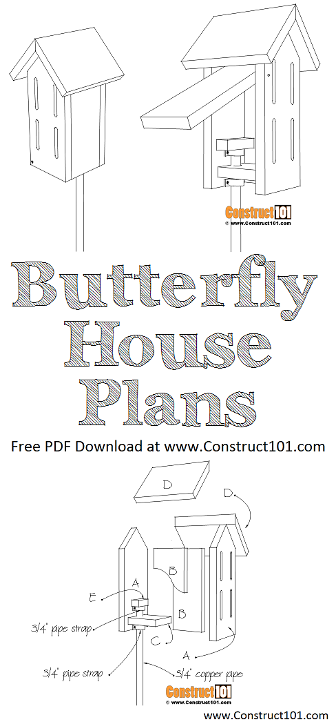 Simple Butterfly House Plans - PDF Download | Construct101 ...