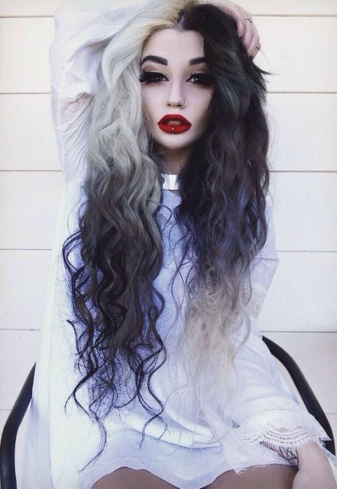 35 Unique Half And Half Hair Color Ideas For Cute Women Hair Styles Half And Half Hair Scene Hair