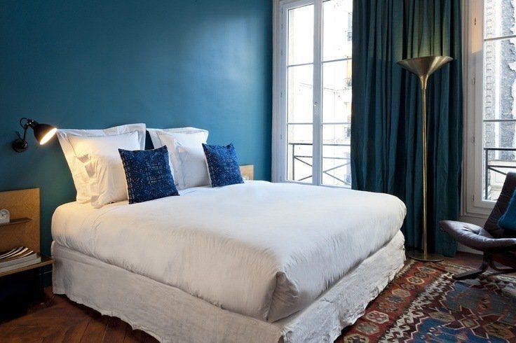 Couleur de chambre 100 id es de bonnes nuits de sommeil for Peinture murs chambre a coucher