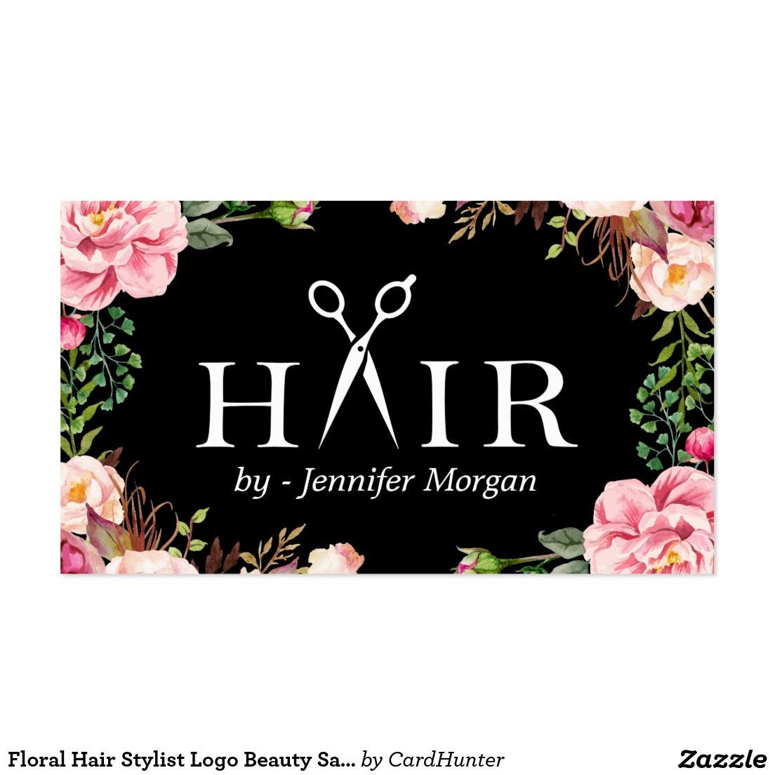 Floral Hair Stylist Logo Beauty Salon Appointment | Floral hair ...