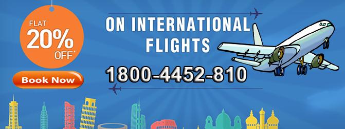 Flat 20 off* on International Flight Booking. Book online