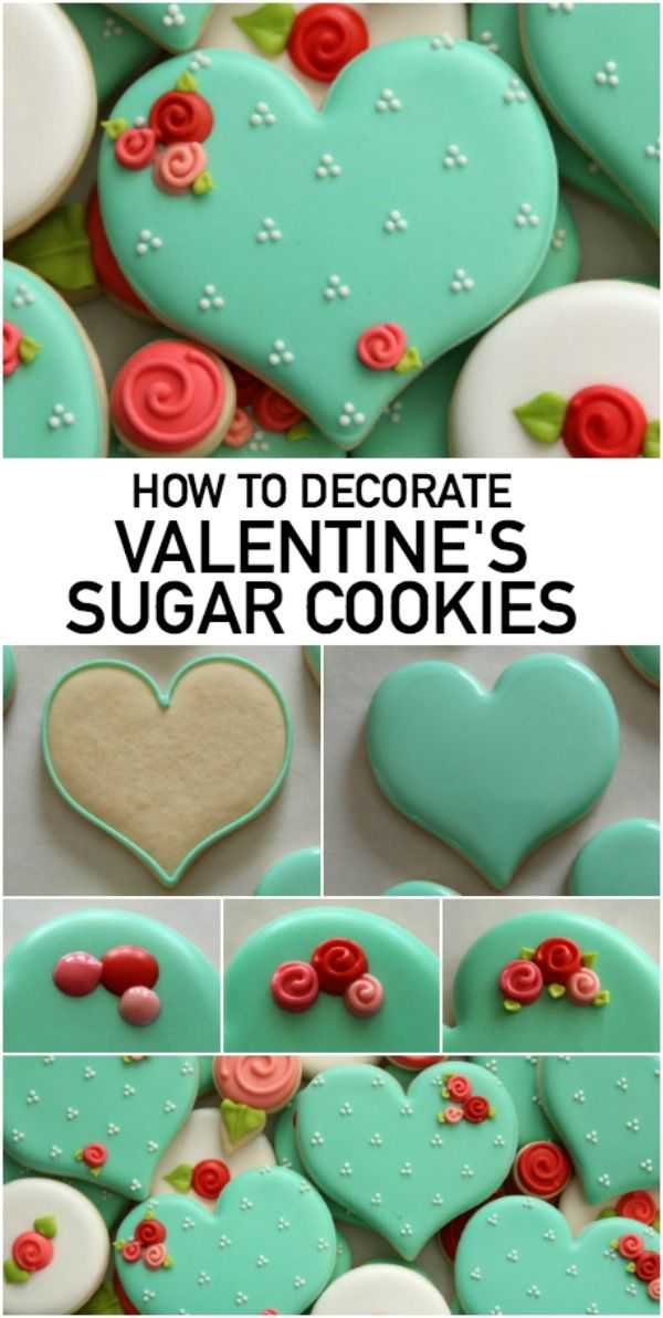 How To Decorate Heart Shaped Sugar Cookies For Your Valentine Valentine Sugar Cookies Sugar Cookies Decorated Cookie Decorating